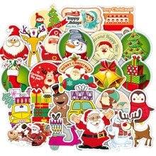 52pcs6-15cm Christmas sticker laptop suitcase graffiti