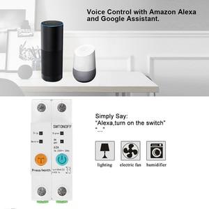 Image 4 - 2p ewelink monofásico ruído trilho wi fi inteligente consumo de energia medidor kwh wattmeter com alexa google para casa inteligente