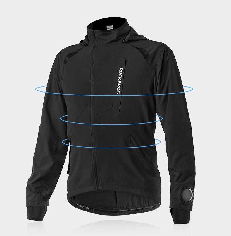 ROCKBROS Men's Cycling Clothing Sets Spring Autumn Breathable Cycling Jacket Comfortabe Thin Unisex Windproof Outdoor Sport Suit