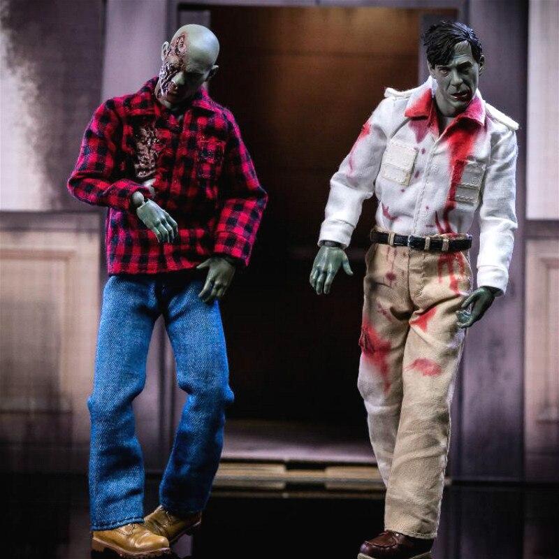 custom painted walking dead zombie head version 2 for 12 inch body