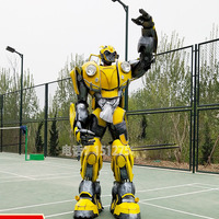 Wearable Bumblebee Beetle Armor costume stage show event party Transformers Cosplay armors with led lights Voice changer