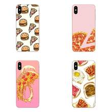 Bolo pizza hamburger simples capas de telefone para samsung galaxy note 5 8 9 s3 s4 s5 s6 s7 s8 s9 s10 5g mini borda mais lite(China)