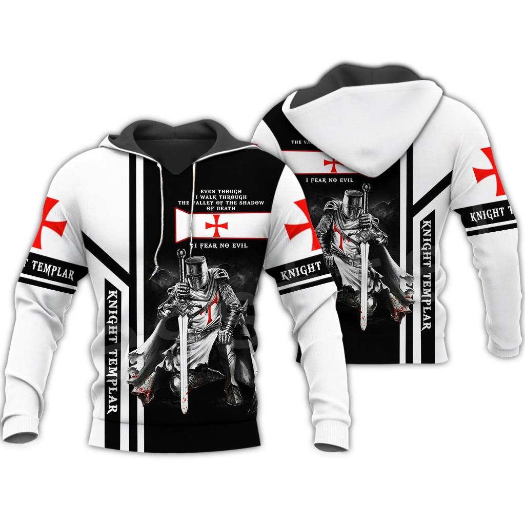 Tessffel Knight Templar Armor Pullover Streetwear Harajuku Funny Tracksuit 3DPrint Zipper/Hoodies/Sweatshirt/Jacket/Men/Women S7