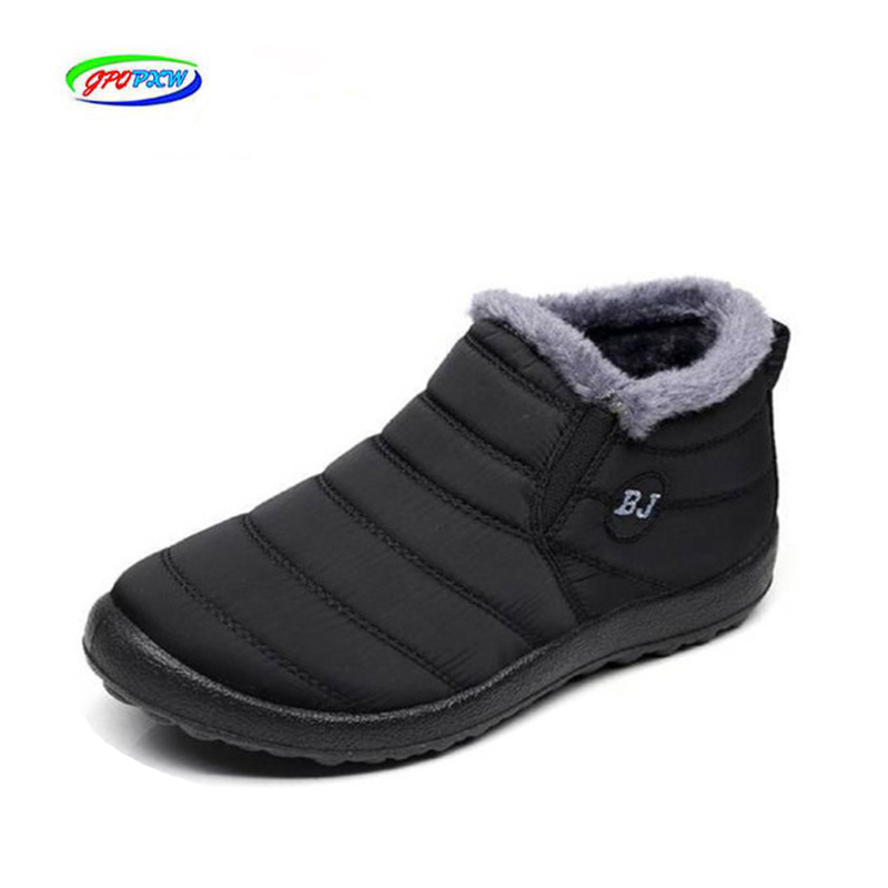 Lightweight Winter Boots For Men Snow Boots Waterproof Dwaterproof Winter Shoes Plus Size 46 Unisex Slip Ankle Winter Boots