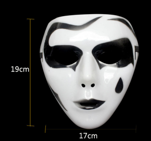 Image 5 - 1Pc Cool Plastic Kamen Rider Mask Ghost Dance Masks Hip Hop Mask White Night Lights for Home Bar Nightclub Party Props Supplies