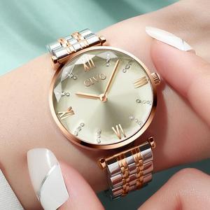 Image 3 - CIVO 2020 moda luksusowe zegarki damskie Top marka stal z różowego złota pasek wodoodporny Zegarek Damski Zegarek Damski