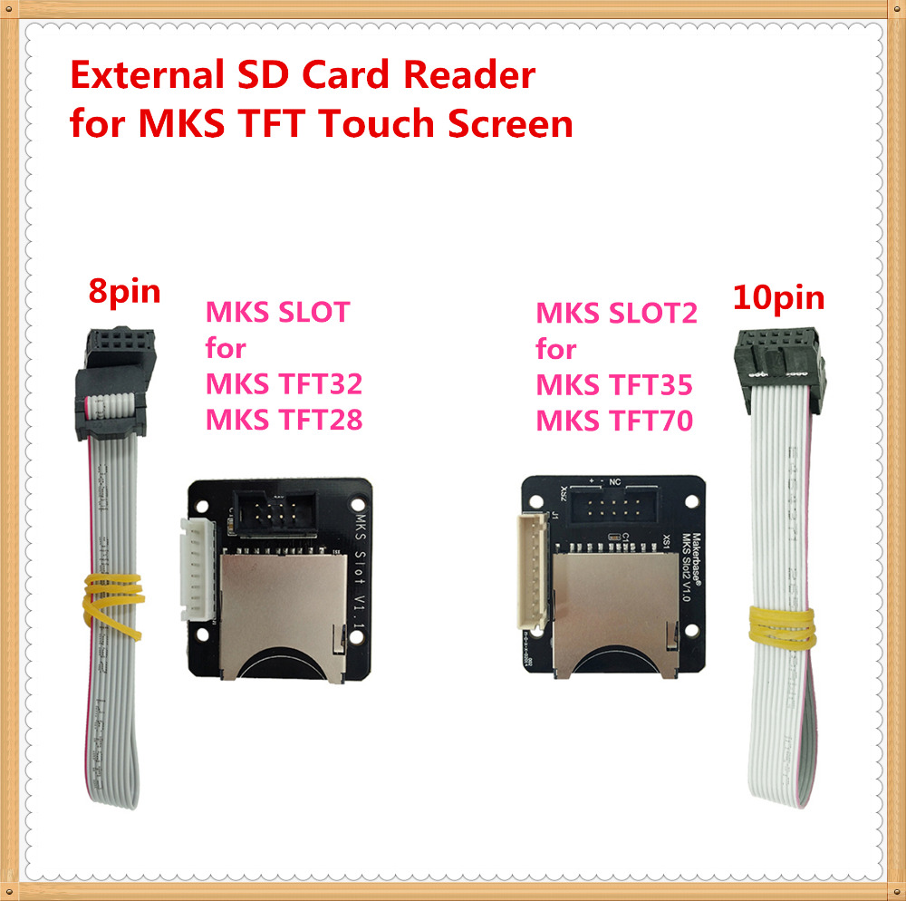 MKS SLOT Slot2 adapter external SD card reader breakout board expander socket for 3d printer MKS TFT35 TFT32 TFT28 touch screen image