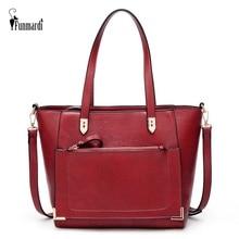 FUNMARDI Vintage Large Women Bag Envelope Pocket Designer Shoulder Bags PU Leather Messenger Satchel Handbag WLHB2016