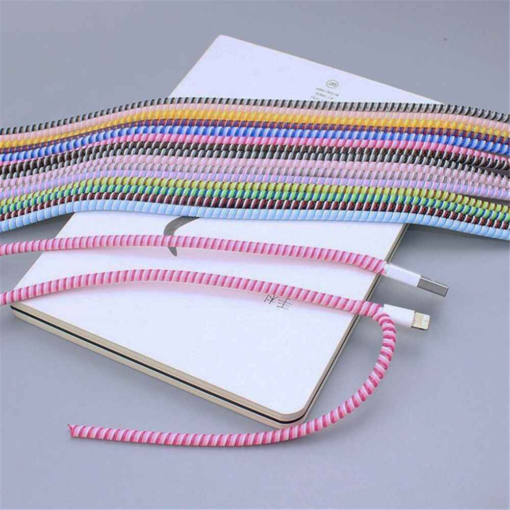 1pc Cable Protector Earphone Organizer Korean Desk Accessories Set Wire Storage Data Line Holder Winder Wrap Cord Office Gifts