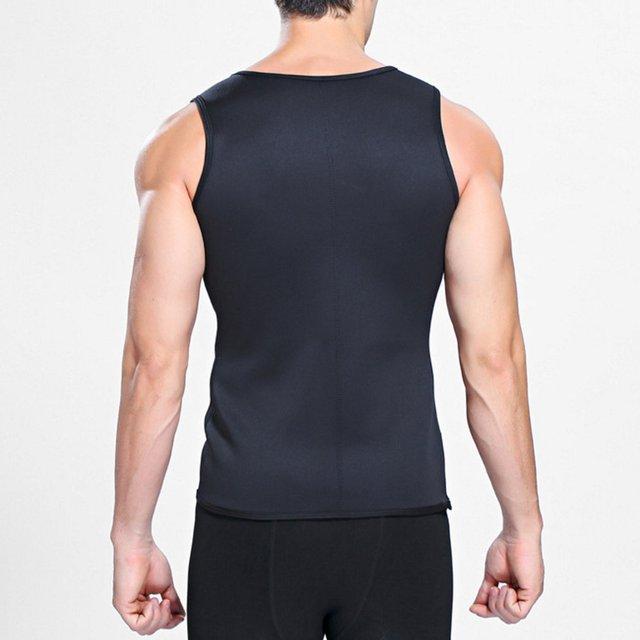 Hot sale Sweat Sauna Body Shaper Men Vest Thermo Neoprene Trainer Sliming Waist Belt Durable And Comfortable Vest 5