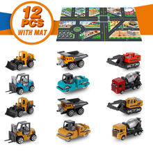 1:64 Diecast Metal Toy Car Toys for Children, Alloy Plastic Car Toys Toy Cars for Child Boys Kids > 3 Years Old (12 Cars & Mat) hotwheels roundabout track toy kids cars toys plastic metal mini hotwheels cars machines for kids educational car toy