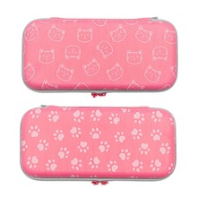 Storage-Bag Game-Console-Accessories Switch Hard-Shell Carrying-Case Cute Cat for Claw-Pattern