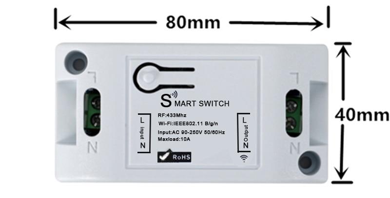 H673b86f24ebb412a882fc5bbbf38781aU - QIACHIP Smart Home Wifi Switch 10A 2200W 433Mhz Wireless RF Remote Control Switch For Alexa Google Home Timer Automation Module