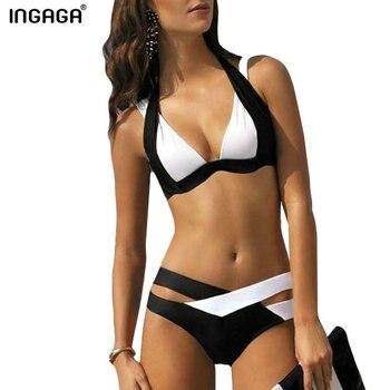 Split Swimsuit Sexy Bikini Color Matching 2020 Ladies Summer Fashion Beachwear Bathing