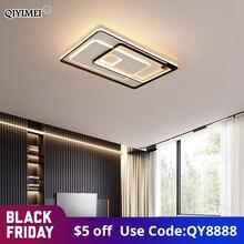 Lámparas LED de techo modernas para sala de estar, comedor, dormitorio, luminaria de Control remoto cuadrado redondo, iluminación interior para el hogar, novedad