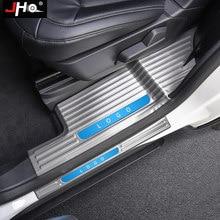 JHO Накладка на порог из нержавеющей стали, защитная накладка для входа педали для Ford Explorer 2020 2021, автомобильные аксессуары