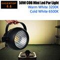 Бесплатная доставка TIPTOP 50 Вт COB Алюминиевый мини COB Led Par Светильник вентилятор для приготовления пищи маленький размер один кронштейн больш...