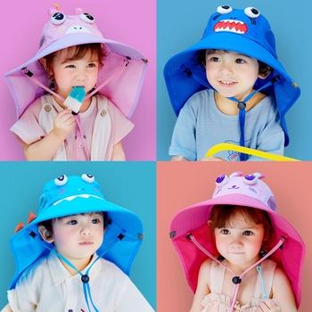Chłopcy dziewczęta dziecięce kapelusze przeciwsłoneczne czepek oddychająca ochrona szyi na zewnątrz 2-12 lat dziecięca letnia plaża UV Cut czapeczka dziecięca tanie i dobre opinie CN (pochodzenie) Dobrze pasuje do rozmiaru wybierz swój normalny rozmiar 29002 COTTON