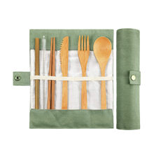 Travel Flatware Bamboo Utensils SetReusable Eco Friendly Portable Cutlery Tableware Travel Supplies Camping Accessories(China)