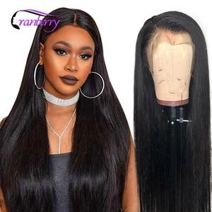 Прямые человеческие волосы из клюквы на фронте, парики с предварительно выщипанными волосами 4X4, парик с кружевной застежкой, 360, парик с кру...