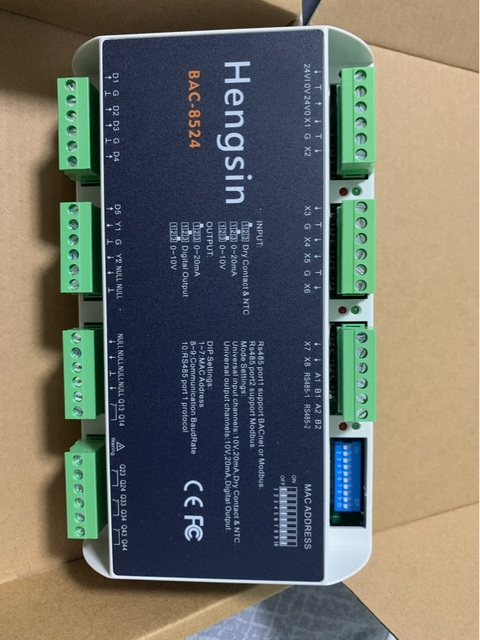 Bacnet Building Automation DDC Controller Modbus Multi-protocol, Freely Programmable Dual Communication Port Multi-channel