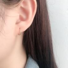 Hoop Earrings Stainless-Steel Gold-Plated Jewelry-Gadgets Round Elegant Unisex Birthday