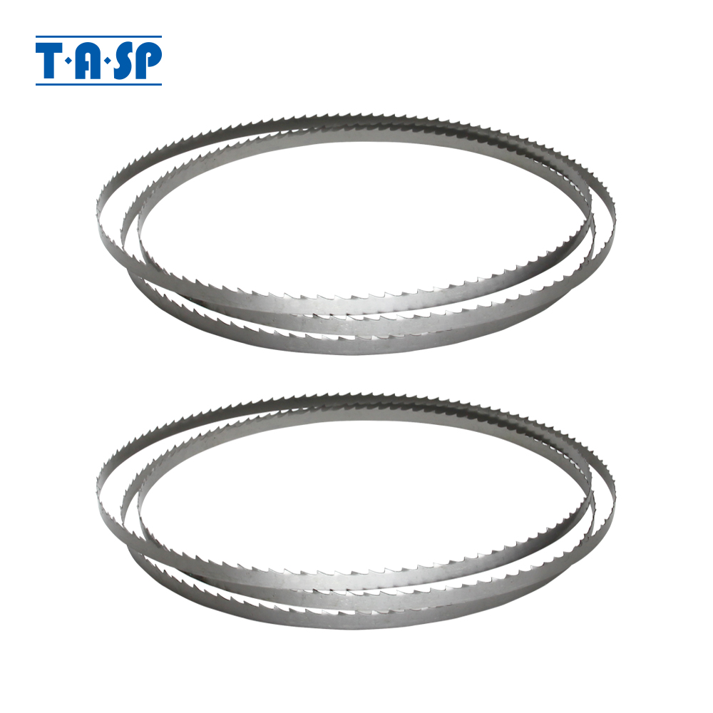 TASP 2pcs Wood Bandsaw Blade 1400 X 1/4''(6.35mm) X 0.35mm Band Saw Woodworking Tools Accessories For Draper BS200A TPI 6 10 15