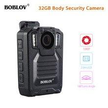 BOBLOV HD9206 AIT policja ciała kamera ochrony 2.0 Cal LCD 3000mAh baterii HD1296P 30FPS Audio wideorejestrator kamera do noszenia przy ciele