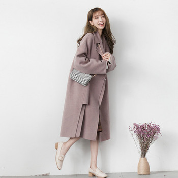 2020 new fashion temperament autumn and winter gentle woolen coat womens long Korean loose casual W849
