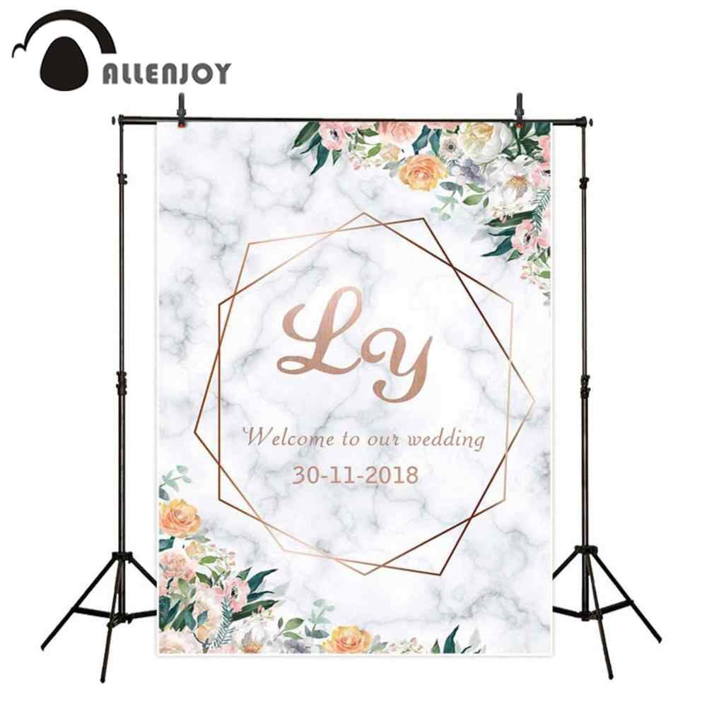 Allenjoy Spring Wedding Backdrop Marble Flowers February 14 Anniversary Engagement Decor Valentine S Day Marriage Party Banner Aliexpress