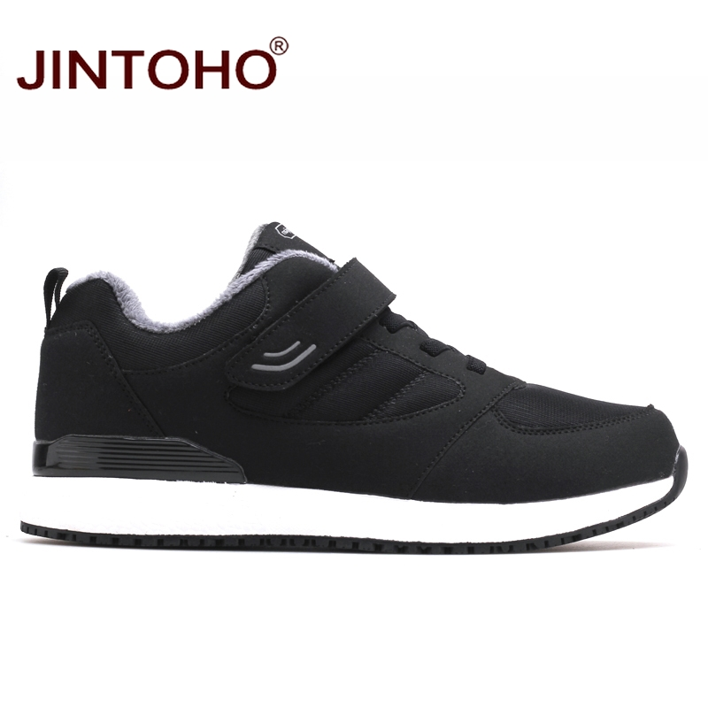 Image 2 - JINTOHO Winter Leather Sneakers Fashion Unisex Leather Shoes Breathable Men Sneakers Casual Male Shoes Men Winter Snow ShoesMens Casual Shoes   -