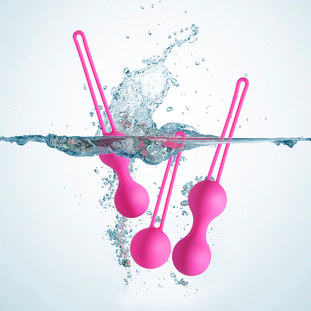 Medical Silicone Vibrator Kegel Balls Exercise Tightening Device Balls Safe Ben Wa Ball for Women Vaginal massager Adult toy 5
