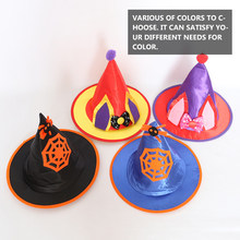 Halloween Hats Wizard Top Hat Party Cap Cosplay Fancy Dress Halloween Masquerade Birthday Head Wear Gift Halloween Decoration(China)