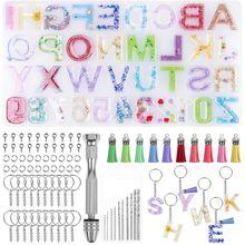 Пряжка для ключей с буквенным номером из смолы бахромой и пряжкой
