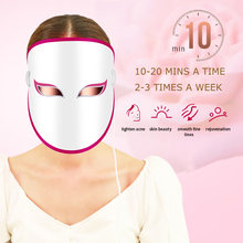 Photon Light Mask Anti-Aging LED Light Therapy Mask 3 Colors LED Lights Red Blue Orange Skin Rejuvenation Lifting & Tightening(China)