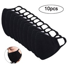 10PC Cotton Face Mask Use with gaskets Anti-bacterial Protective mask Breathable Washable Unisex adult mask reusable Anti-dust %