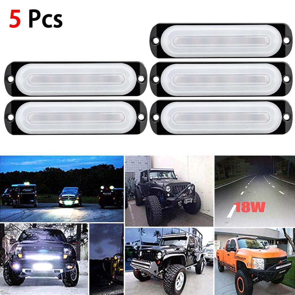 5 sztuk 12V listwa świetlna LED robocza powodzie Spot Offroad 4WD samochodów SUV jazdy lampa przeciwmgielna 6 LED samochodów światła awaryjne dla ciężarówek, ATV, UTV