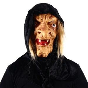 Patygr злая старая ведьма с капюшоном маска для лица Хэллоуин ужас латекс нарядное платье Хэллоуин Новый