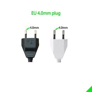 Image 2 - 4.0mm EU Male Female Butt VDE Power Cord Plug Power socket Europ EU plug Light fixture 2 core Connection Plug.