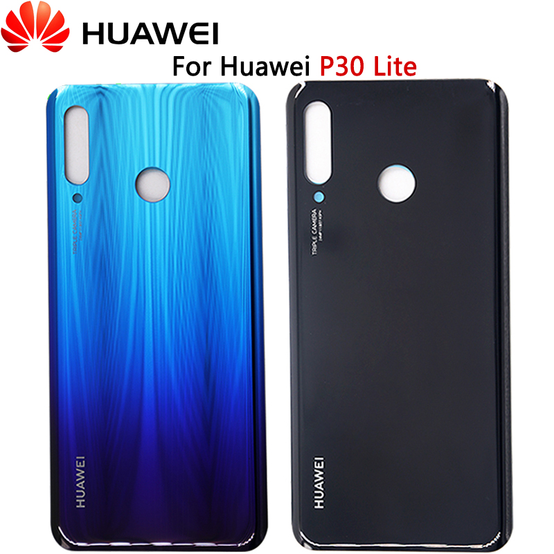 For Huawei P30 Lite Back Cover Rear Glass Door Panel Housing Case New P30 Lite Battery Cover