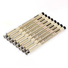 Pigma micron esboço caneta marcador preto pigmento forro neelde desenho caneta para desenho desenho desenho de escrita gancho arte caneta