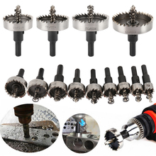 цена на 13PCS Carbide Tip HSS Drill Bit Hole Saw Set Stainless Steel Metal Alloy 16/18/20/22/25/26/28/30/35/40/45/50/53mm