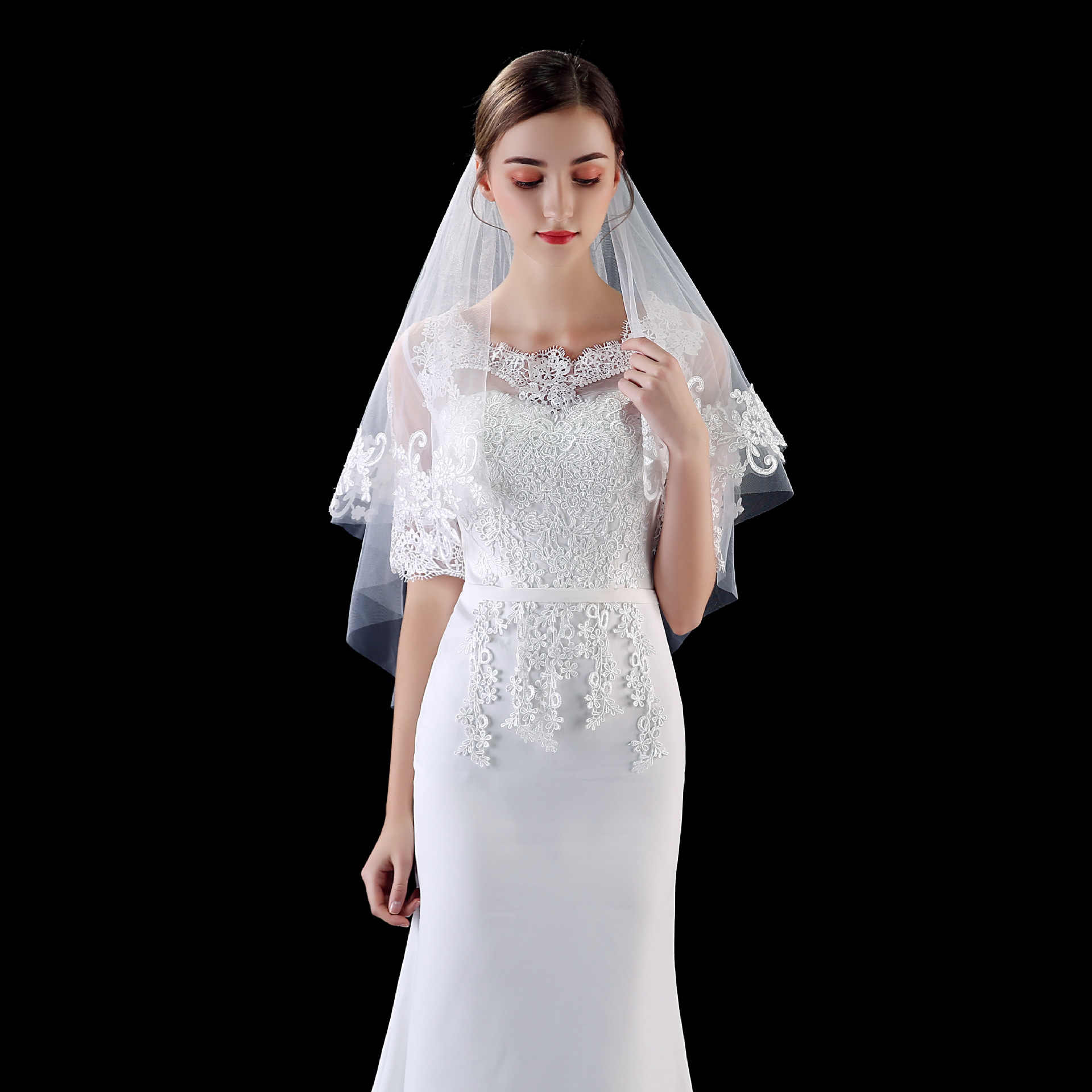 New Style Bridal Headdress Fashion Double Hair Comb Wedding Accessories  Easy to Wear Exquisite Lace Applique Wedding Headdress|Women's Hair  Accessories| - AliExpress