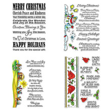 Diverse Christmas Blessings Greetings Words Snowman Holly Transparent Clear Stamps for DIY Scrapbooking Cards Crafts 2019 New