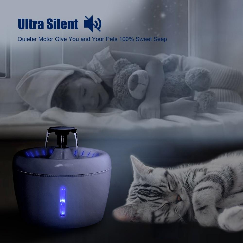 2.5л автоматический кошачий фонтан питьевой воды чаша питья собака кошка диспенсер воды немой автоматический питьевой фонтан электрический...