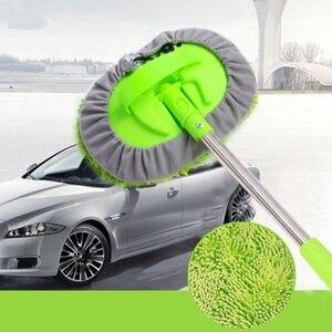 Image 5 - سيارة تنظيف فرشاة تصغير مقبض طويل اكسسوارات السيارات سيارة فرشاة غسيل ممسحة تنظيف الشنيل مكنسة