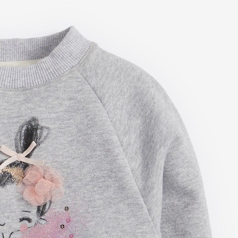Little Maven children's sweater autumn winter children's sweater girls' long sleeve round neck fleece children's sweater C0311 3