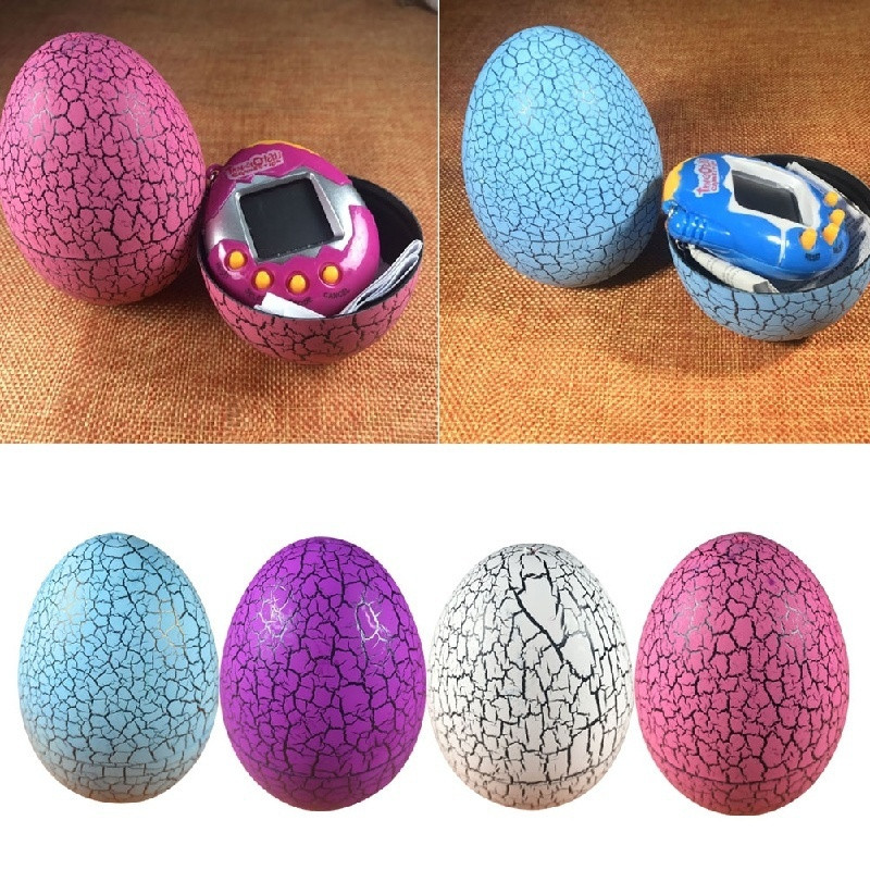 New 1 pc Crack Egg Electronic Game Machine Virtual Pet Video Game Consolesole best birthday gift to Children 9 cm Broken Eggs in Gags Practical Jokes from Toys Hobbies