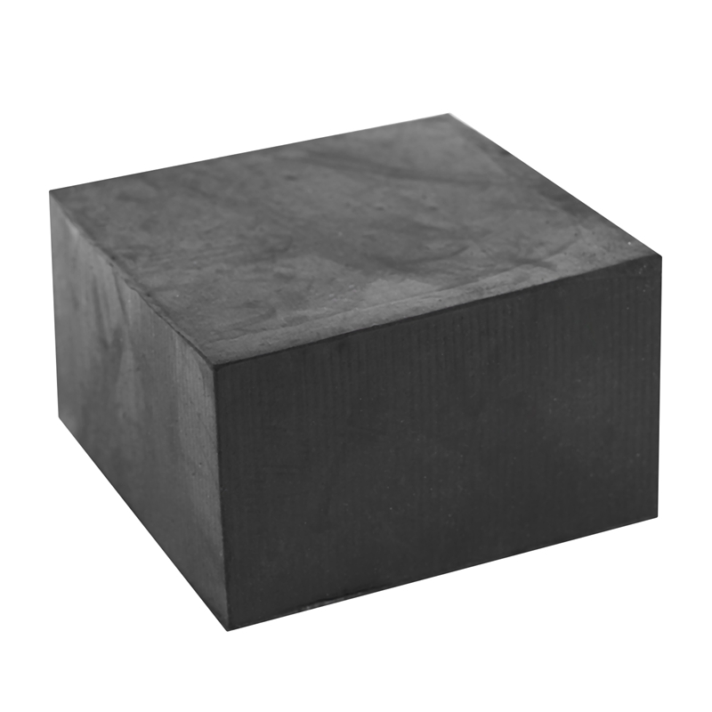 Fashion-Rubber Furniture Chair Table Leg Square Foot Cover Protectors 50x50mm Black