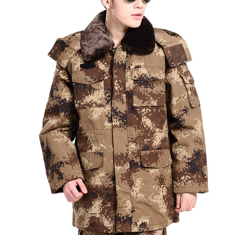 1Set Jungle Camouflage Suit Men's Summer Military training suit autumn Training Safety Labor suit Cotton Overalls Big Coat
